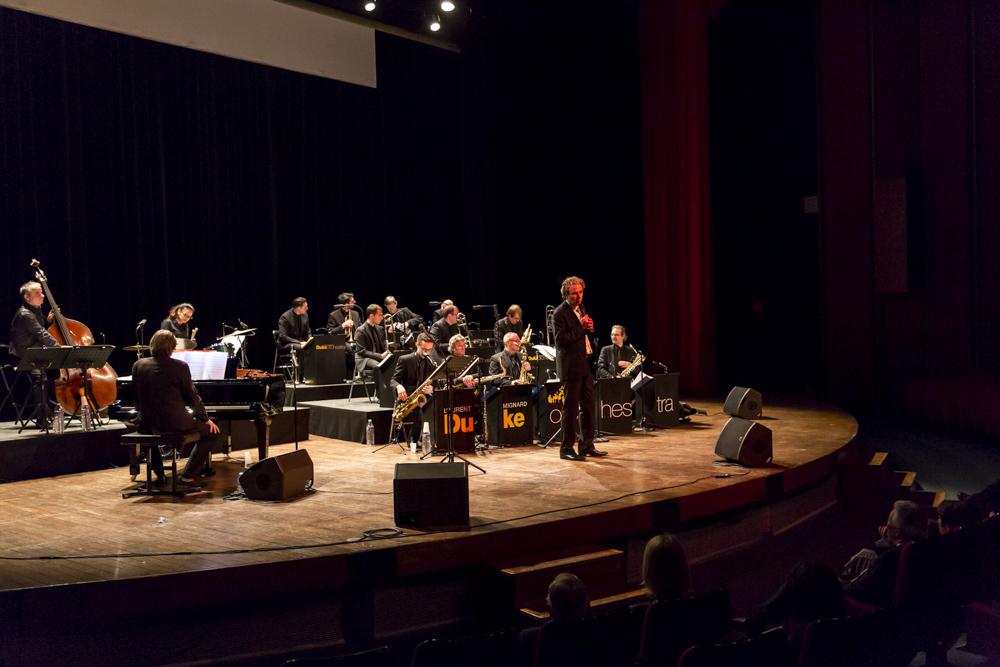 Soirée musicale organisée au profit de l'Association ALIS en compagnie de Laurent Mignard et le Duke Orchestra. ENGIE INEO. Ecole Polytechnique, Palaiseau. 7 avril 2016.